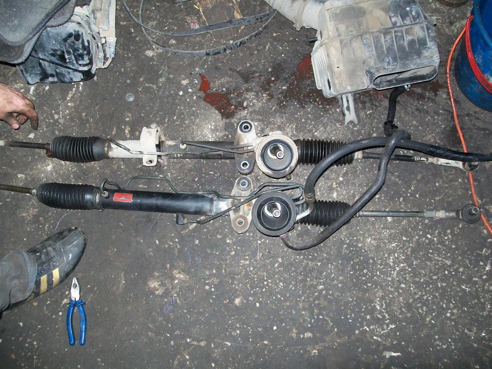 Ремонт рулевой рейки своими руками мицубиси лансер 9
