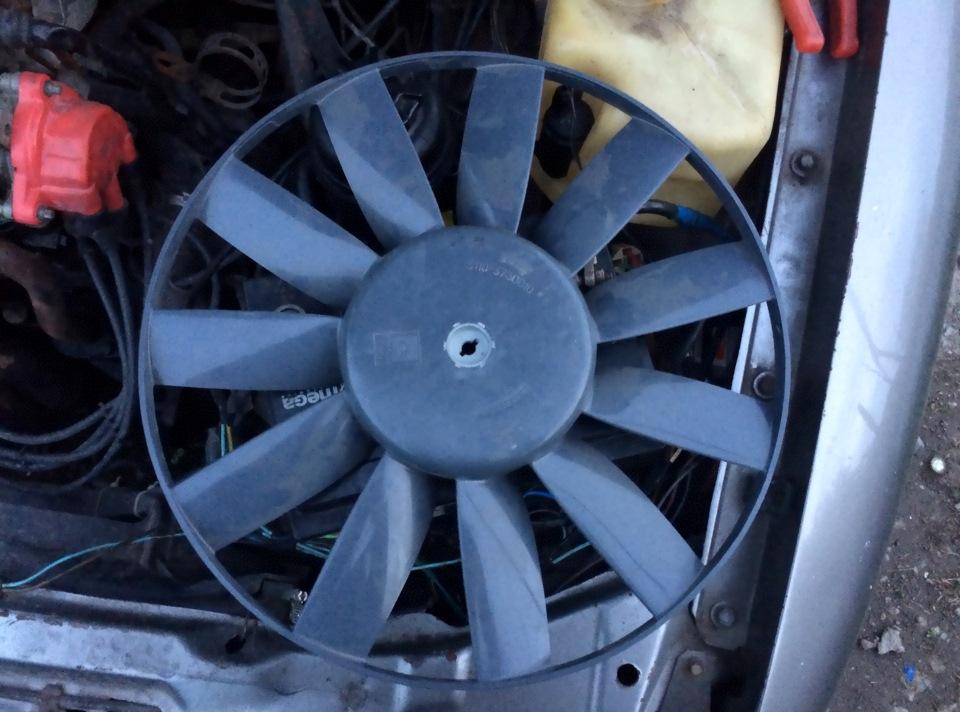 замена вентилятор охлаждения радиатора опель омега