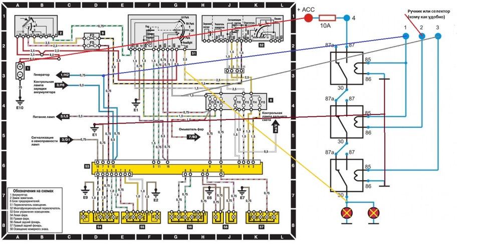 Wiring Diagram Mercedes S320 Cdi : Автоматическое включение ближнего света — бортжурнал