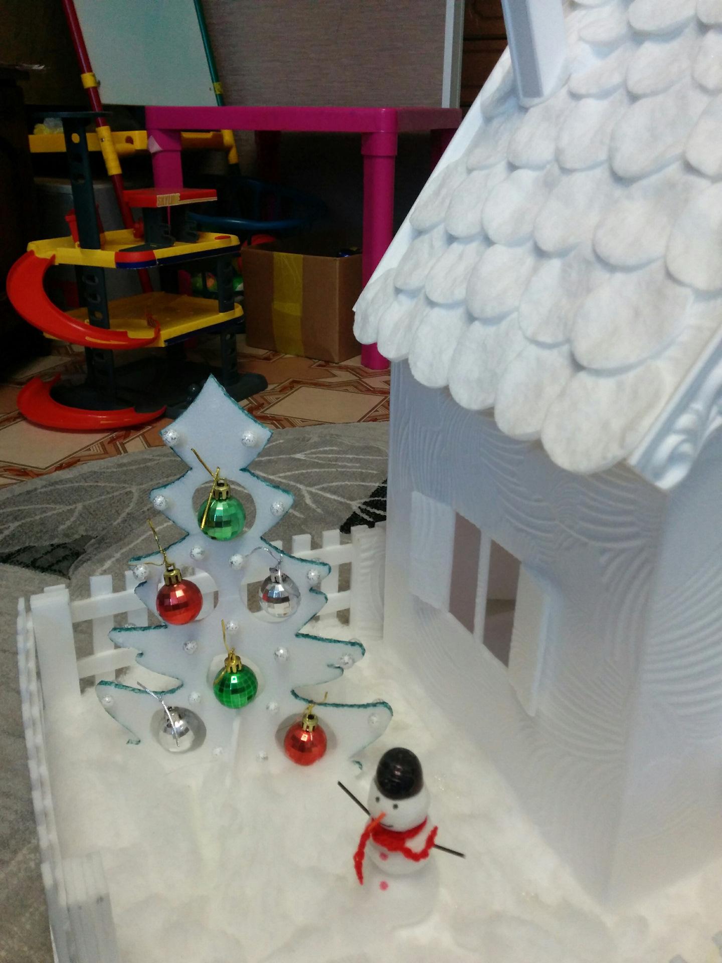 Метки: домик, потолочка, потолочная плитка, своими руками, поделка