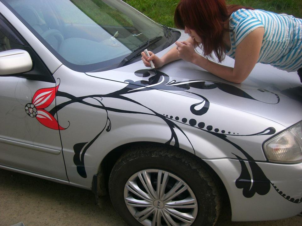 Рисунок на автомобиле своими руками