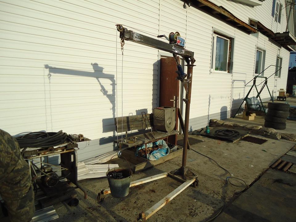 Подъемник для двигателя своими руками фото 16