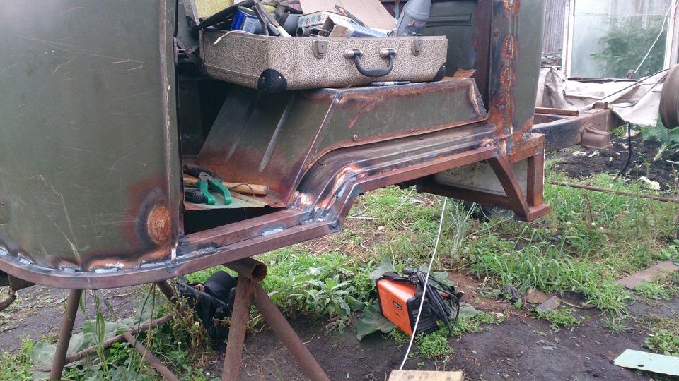 Видео ремонт кабины уаз 3303 своими руками