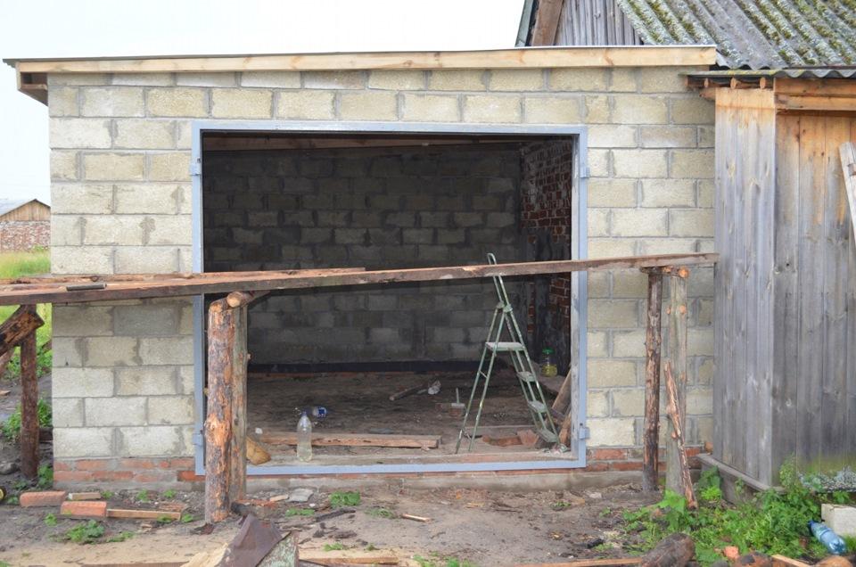как построить гараж из шлакоблоков своими руками фото - Ремонт квартиры
