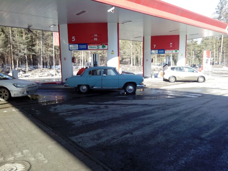 где заправиться газом на м4: