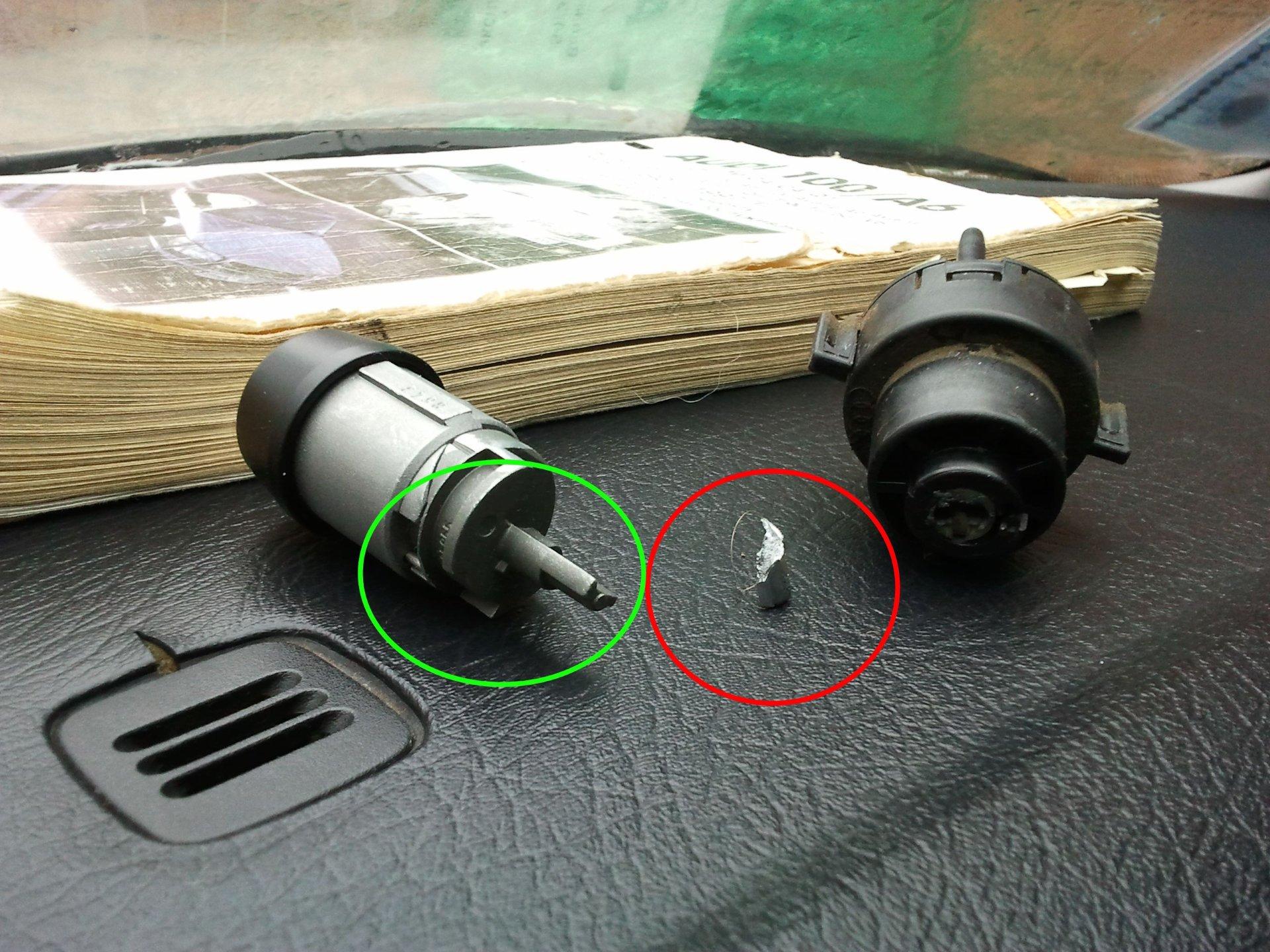 Замена контактной группы замка зажигания пассат б3