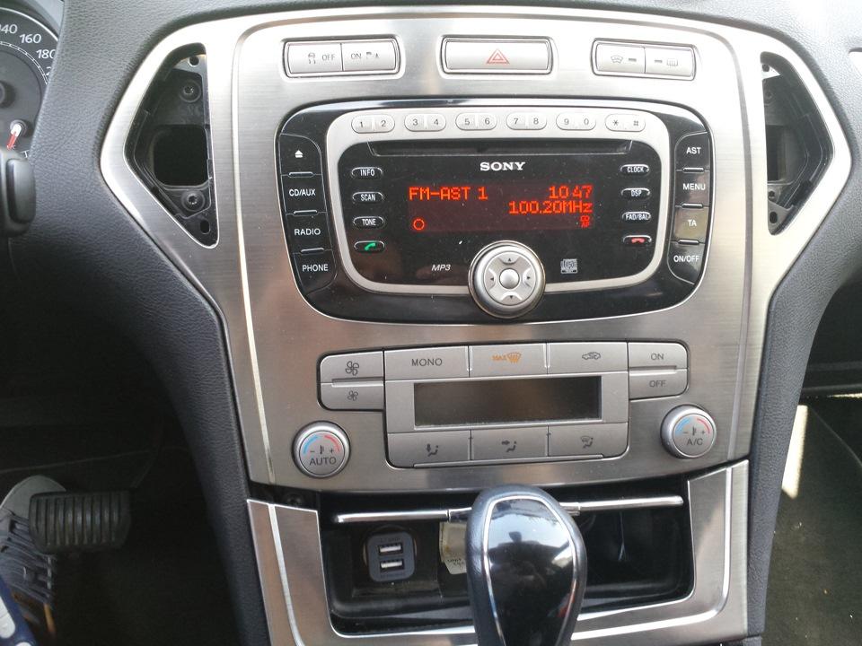 подсоединение автомагнитолы к ford mondeo
