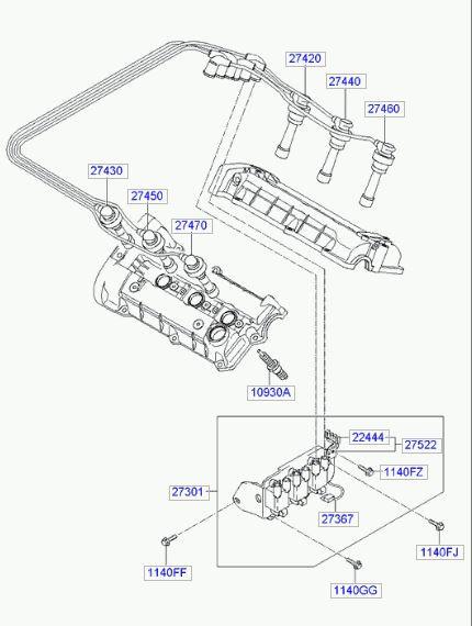 P0303 или пропуски зажигания 3-го цилиндра — Hyundai Tucson