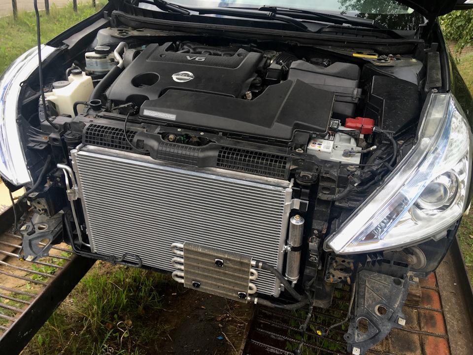 Тиана замена радиатора кондиционера фото