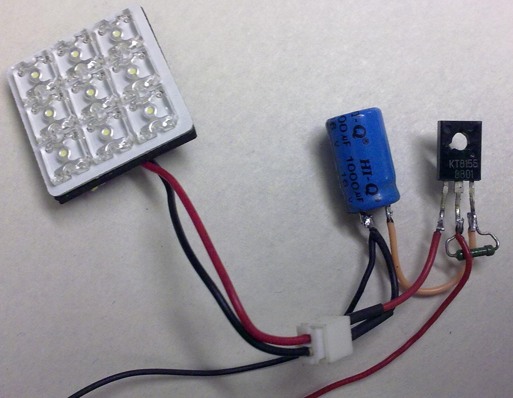 схема для плавного включения светодиода