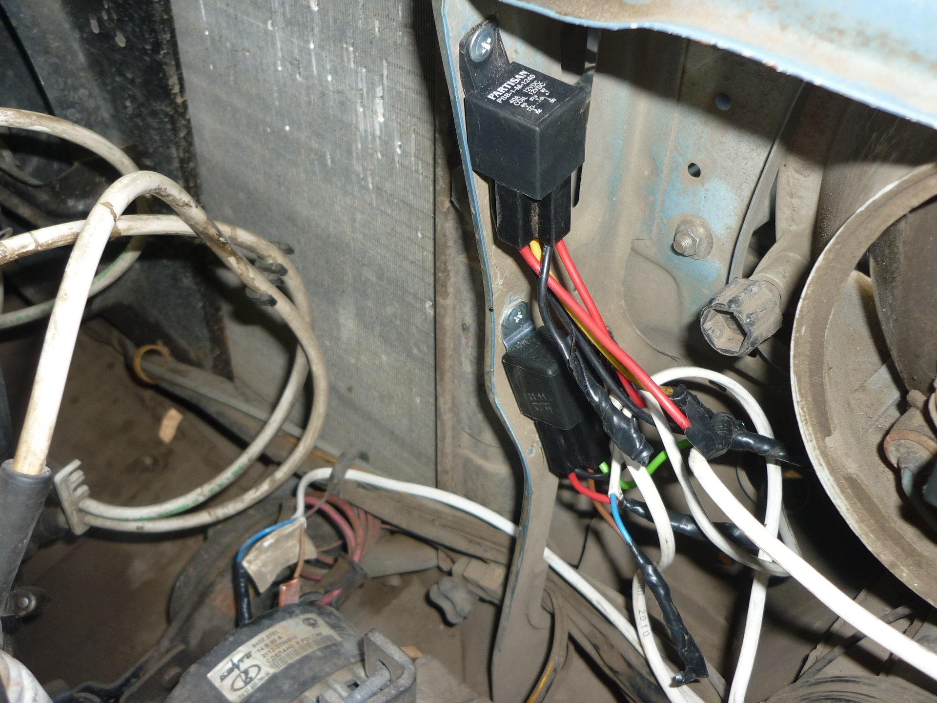 электро схема подключения ходовых огней на авто