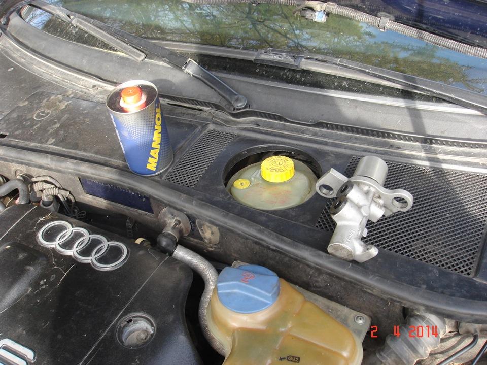 замена главного тормозного цилиндра audi a6