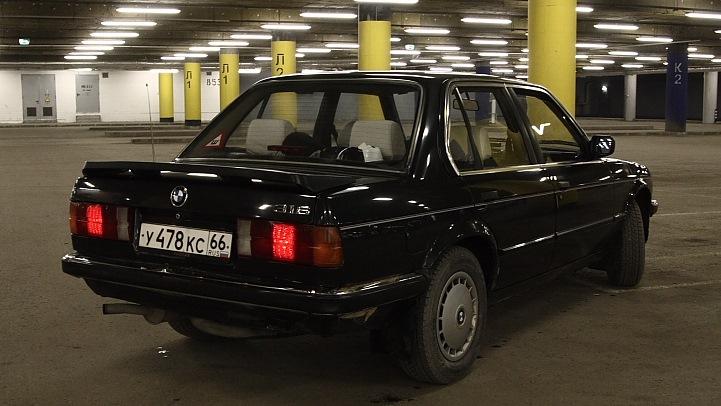 bmw 3-series 316 1986 года о машине