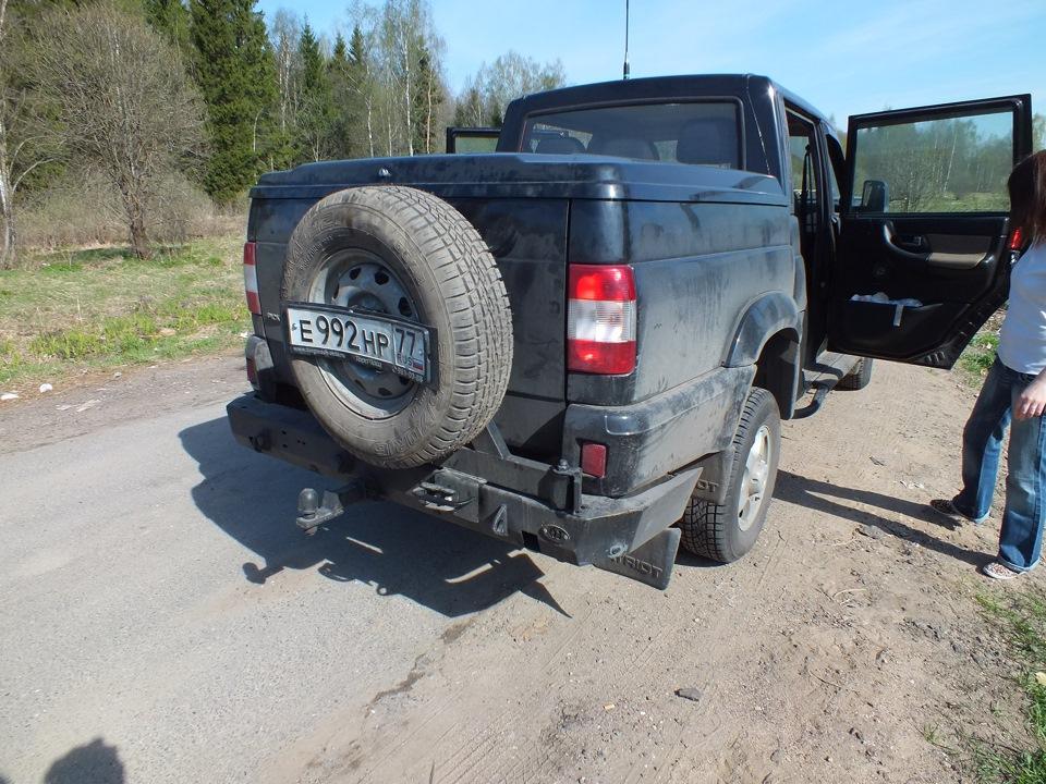 Задний силовой бампер с калиткой - бортжурнал УАЗ Pickup (Патриот-Лонг) 2012 года на DRIVE2