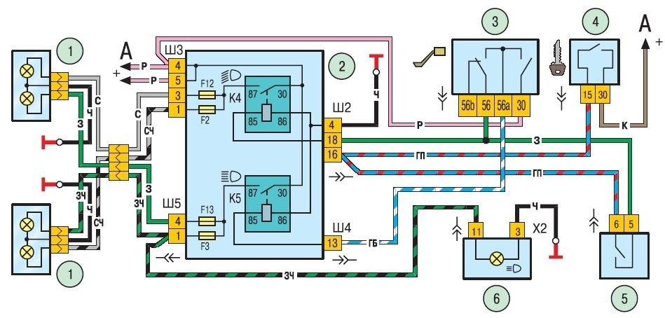 схема соединений комбинации приборов chevrolet niva
