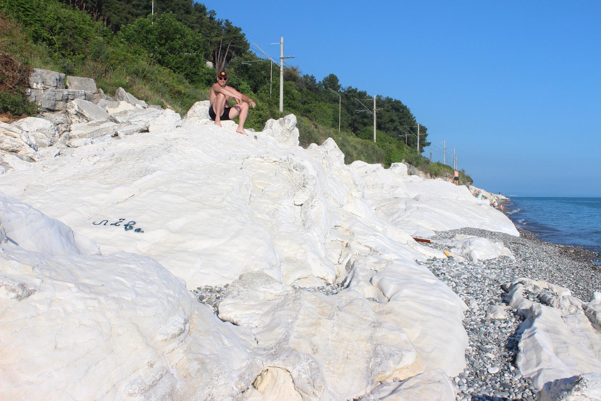 для всех, пляж белые скалы абхазия фото над своим
