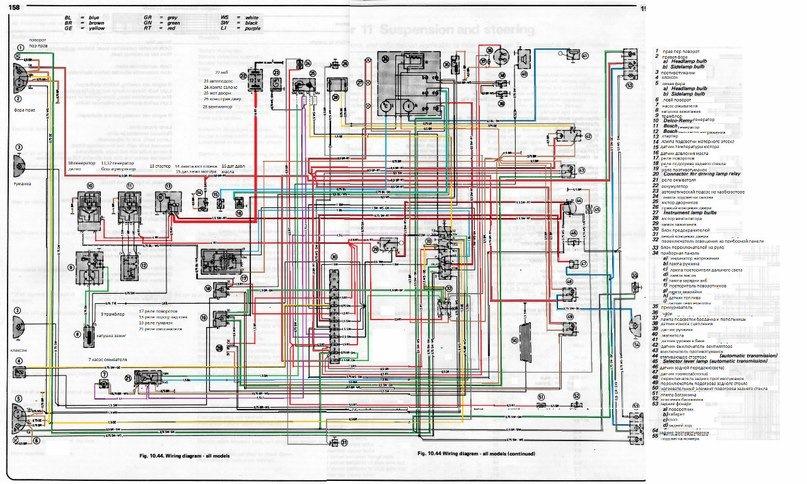 цветная схема проводки