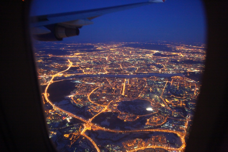 фотографии из окна самолета ночная москва вас коллективе намечается
