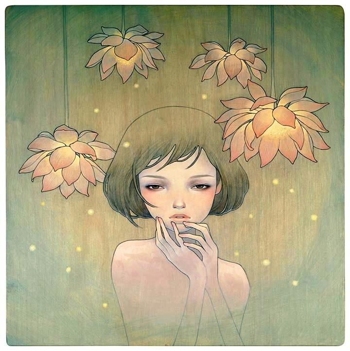 Красивые нежные эротические рисунки красками и карандашом фото 785-803