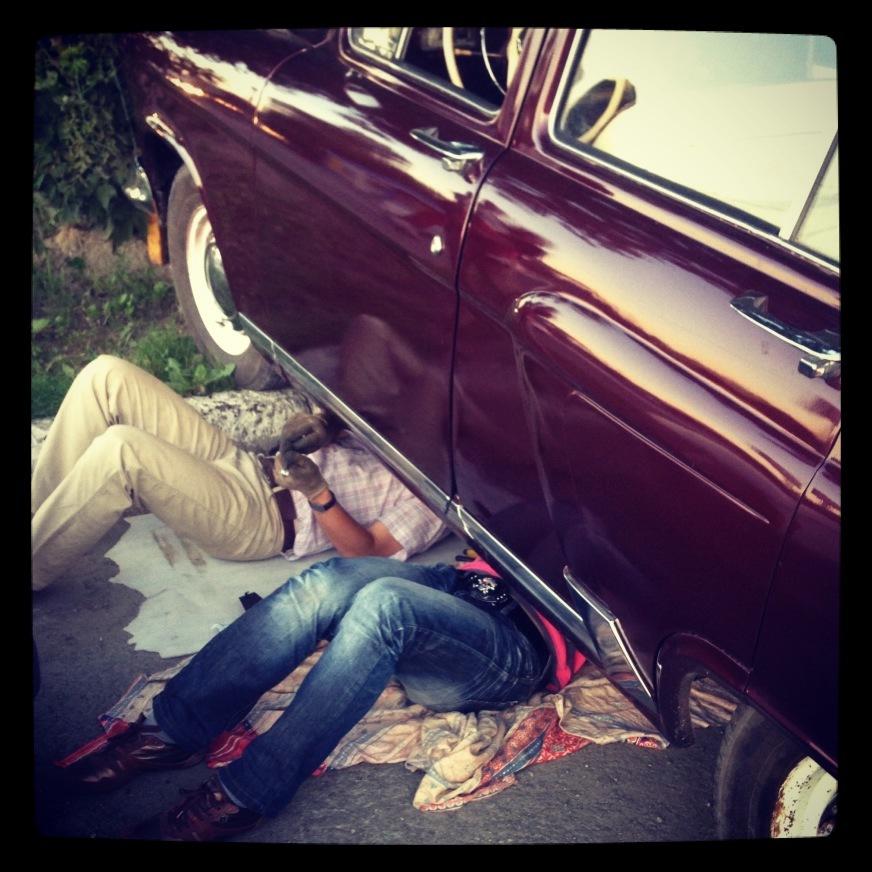 Секс в волге в машине