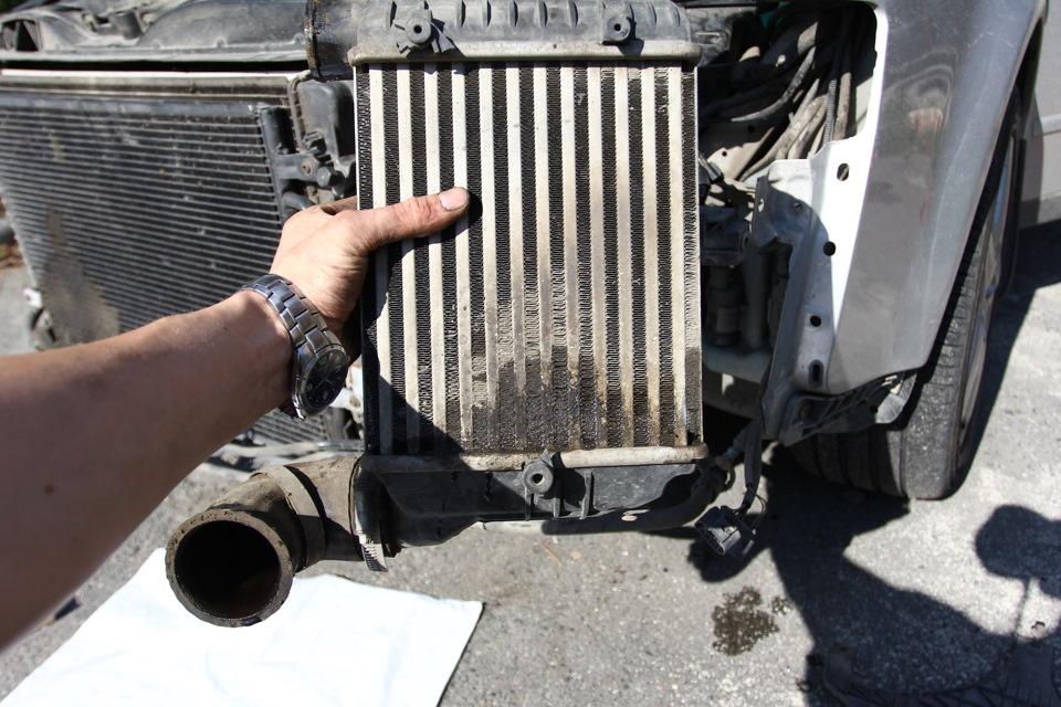 audi a6 1.8 turbo промывка интеркулера