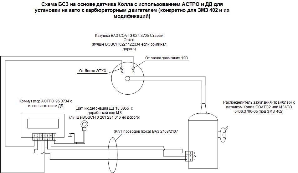 Схема с использованием датчика