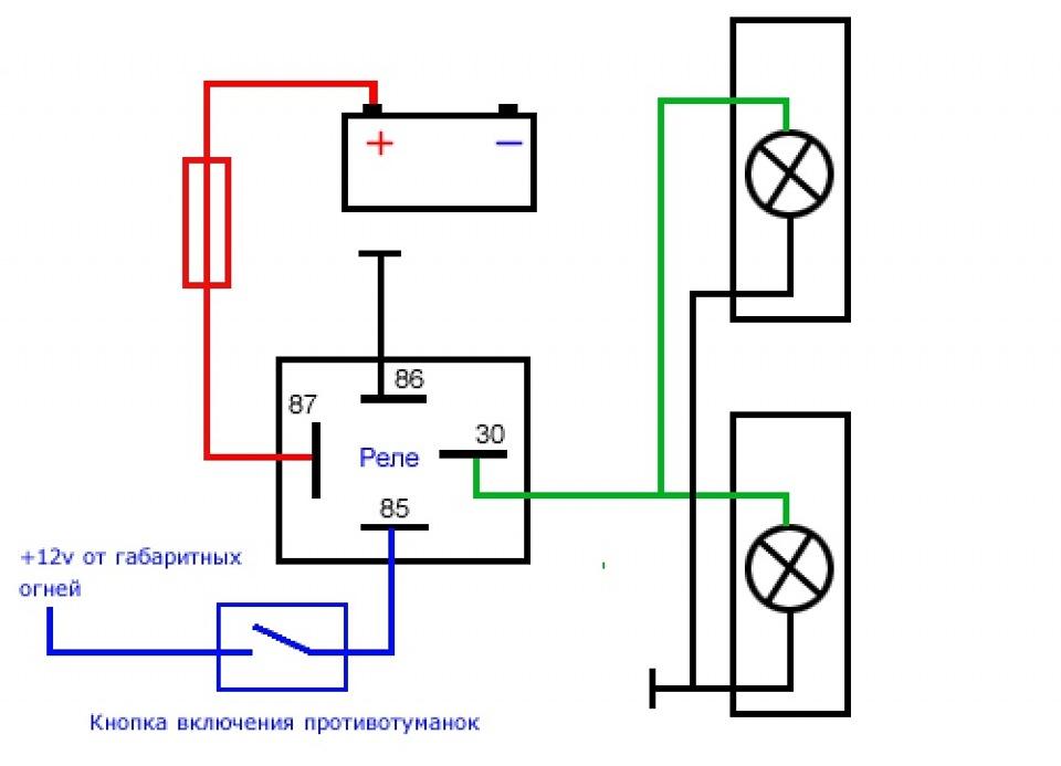 схему монтажа через реле:
