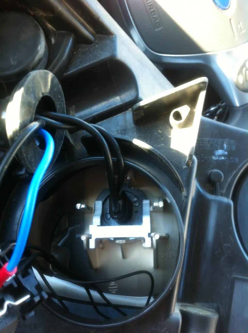 Установка ксенона на форд фокус 3 своими руками 35
