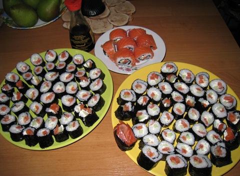 Как в дома сделать суши