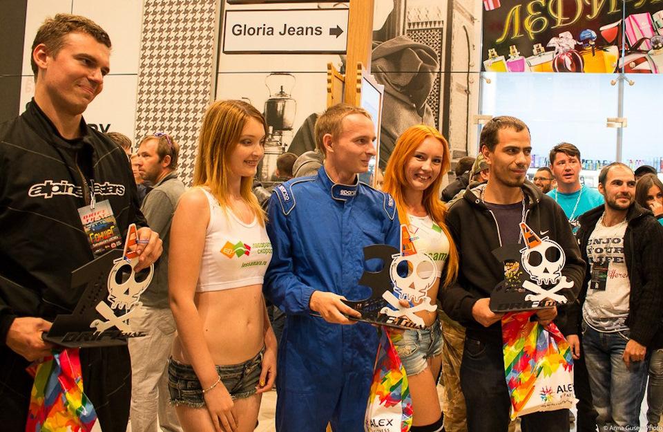 Победители этапа (слева направо): Бардин, Невмержицкий, Бесов.