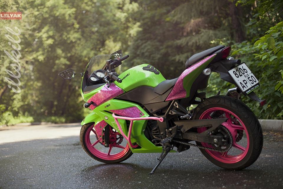 Сочетание цветов на мотоцикле