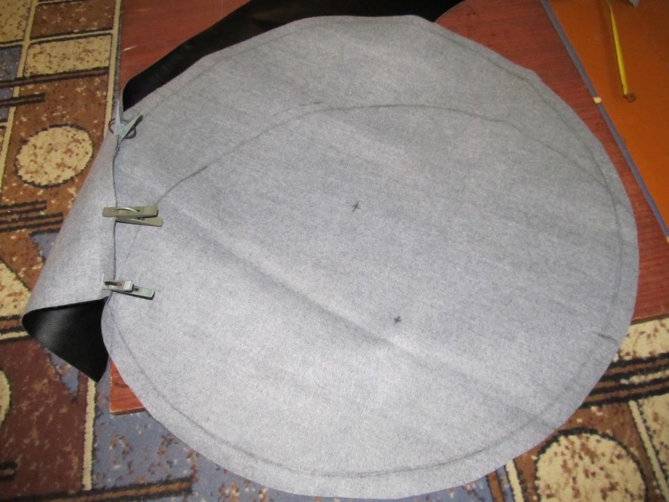 Как сшить круглый чехол на круглую табуретку своими руками