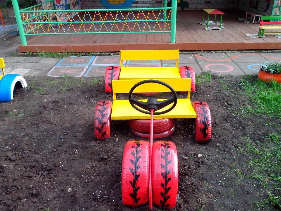 Машина на площадку детского сада своими руками 4