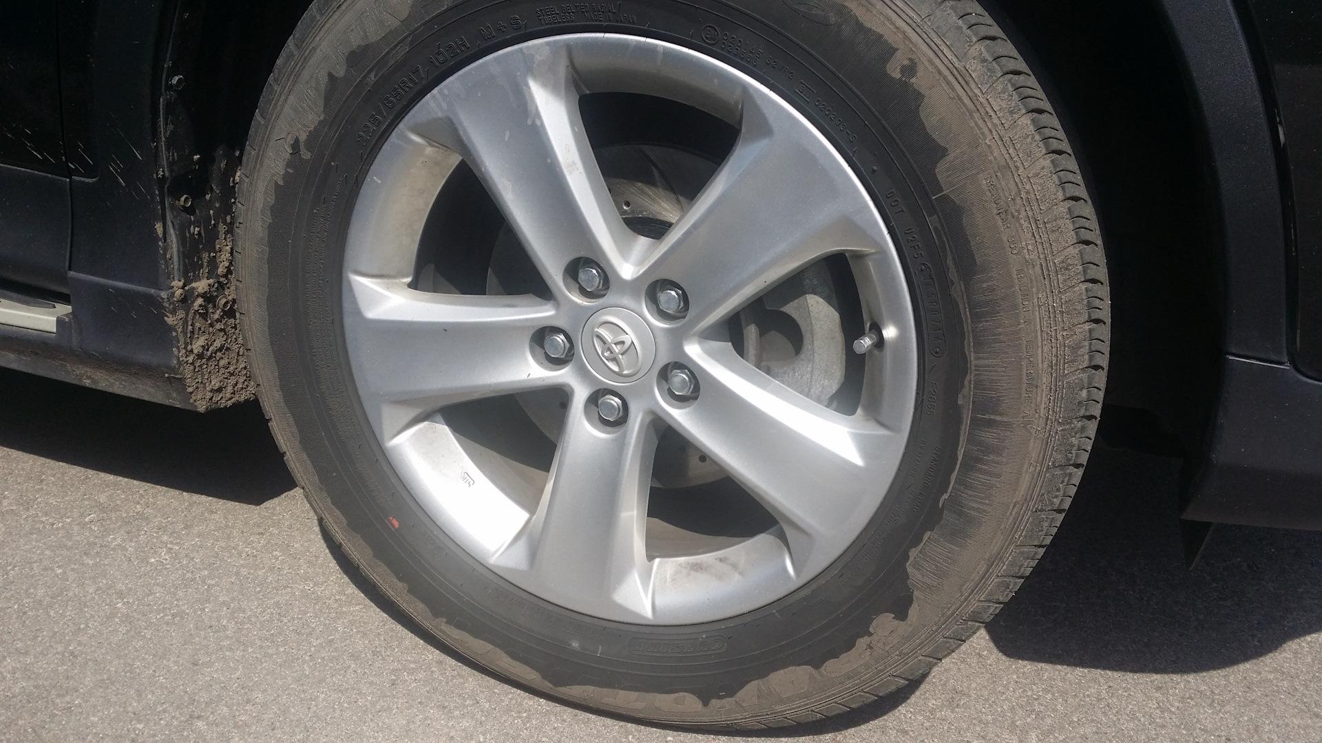 размеры оригинальных дисков toyota rav4 2013