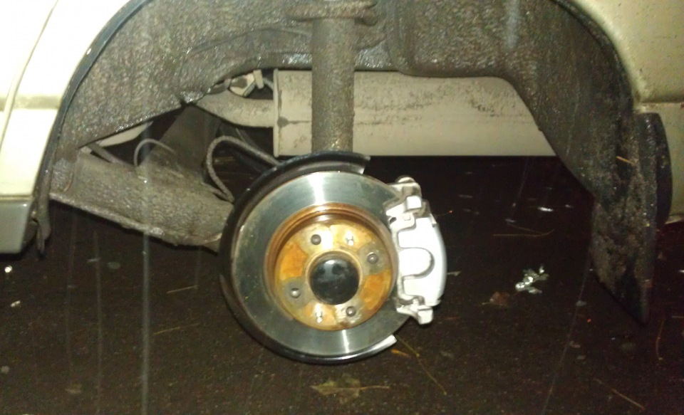 Задние дисковые тормоза своими руками на приору