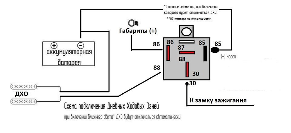 Дневные ходовые огни схема подключения фото 727