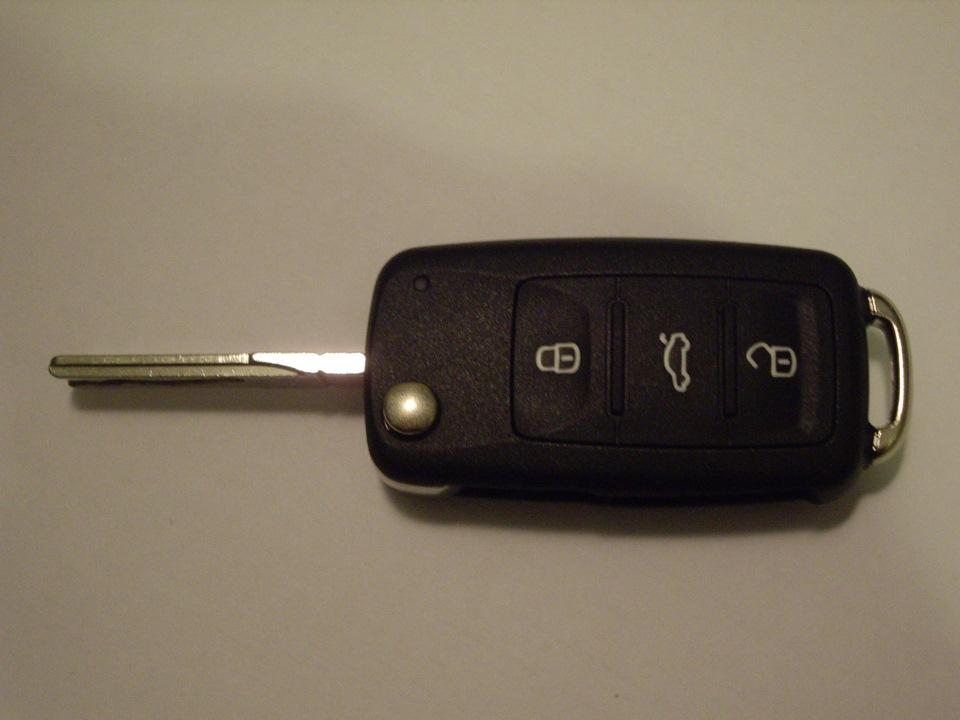 выкидной ключ на volkswagen polo sedan
