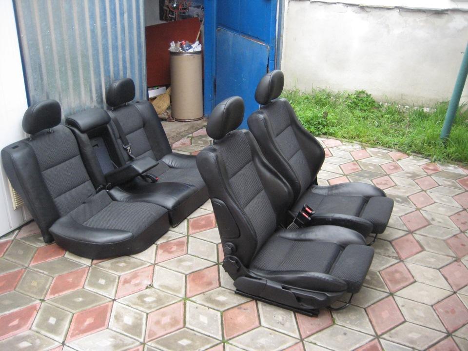 купить кожаные сиденья на опель вектра б