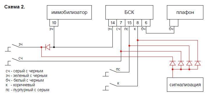В схему включается 5 диодов.