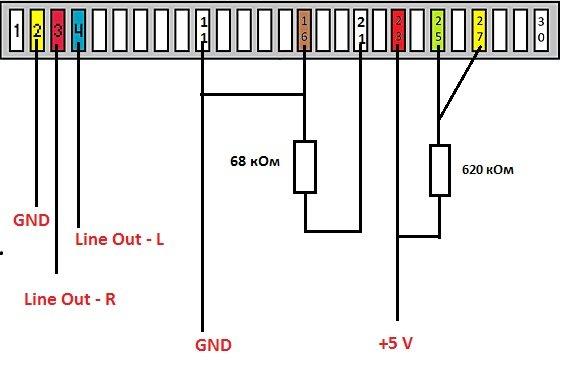 Схема кабеля айфона на питание