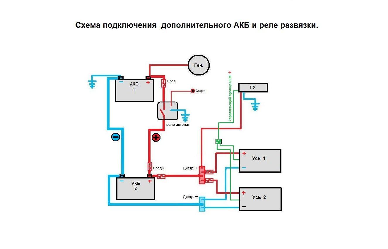 Схема подключения двух с