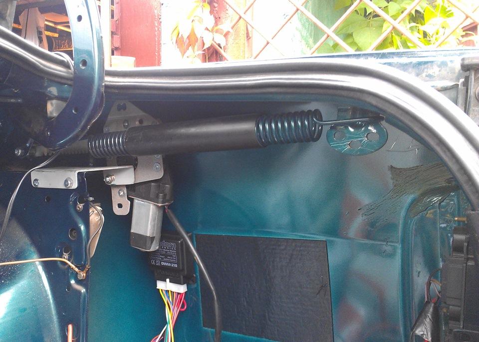 Система открывания багажника своими руками 10