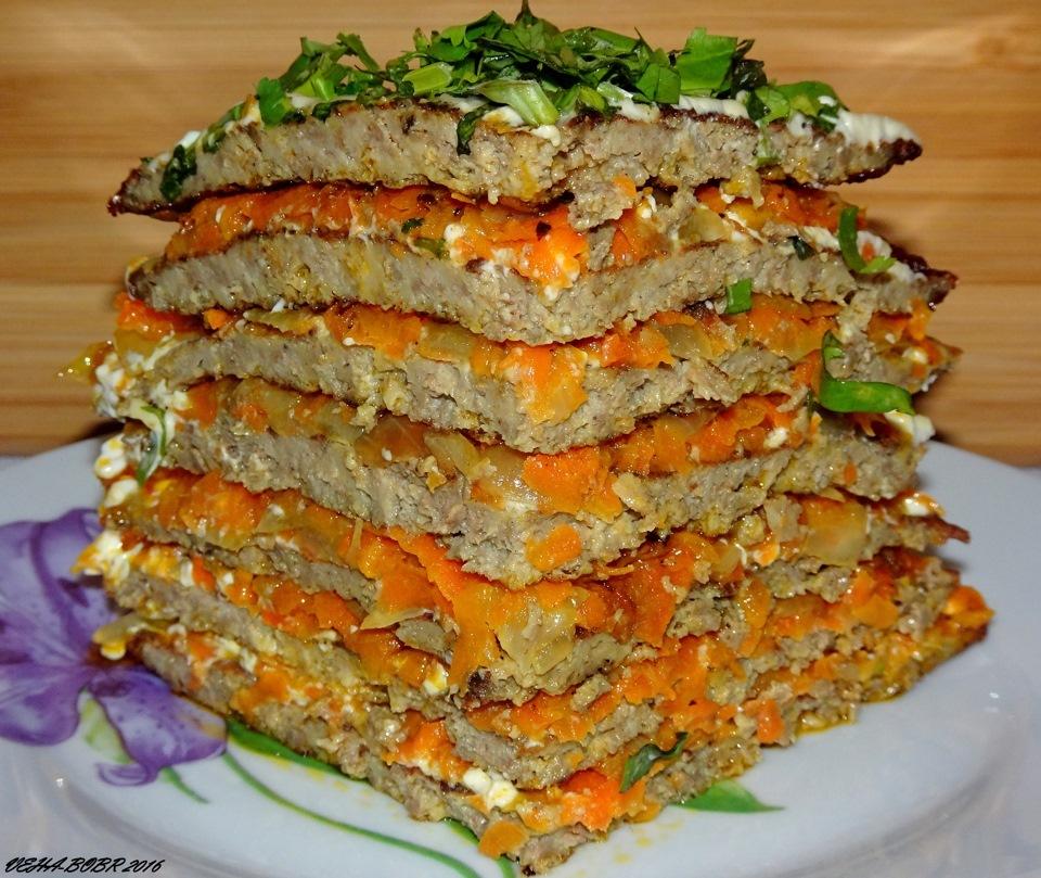 пирог из печени слоями рецепт с фото тщательно подбирали