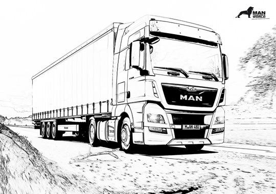 Рисунки грузовиков ман