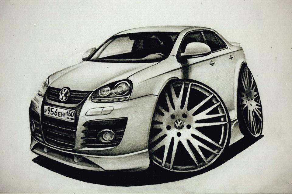 Прикольные автомобили рисунки
