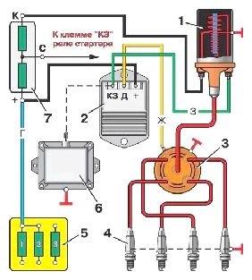 Схема катушки газ 402