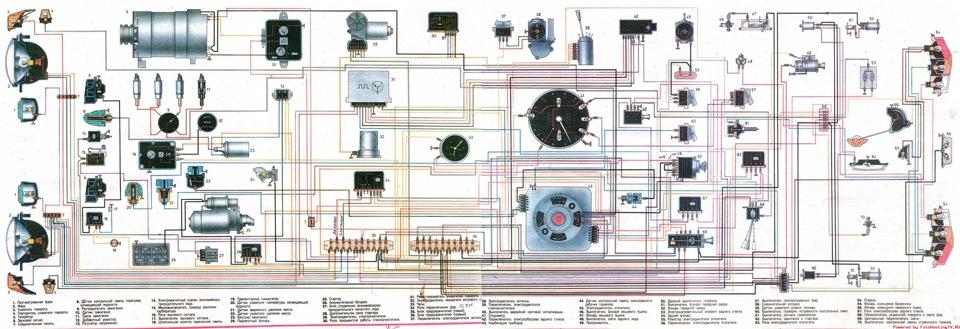 Электросхема газ 24 волга фото 413