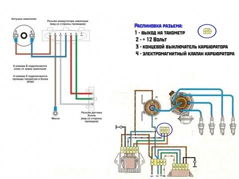 Схема подключения электронного