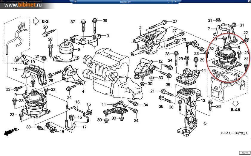 Подушка двигателя хонда аккорд