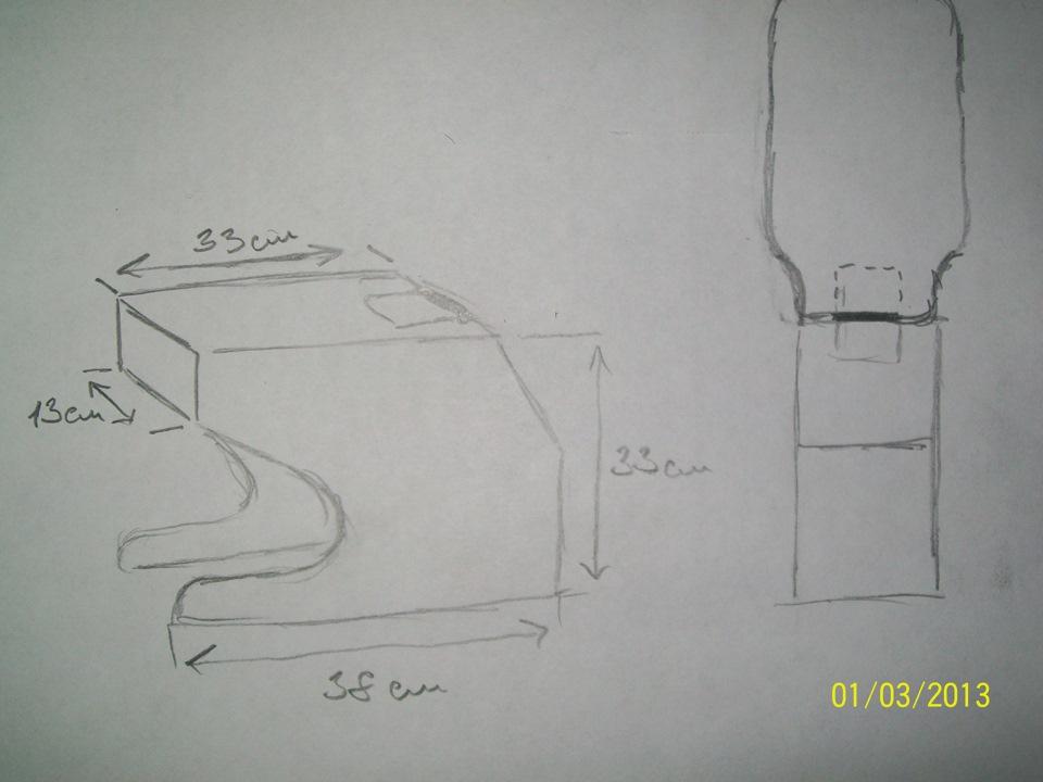Размеры подлокотника на ваз 2110 своими руками 77